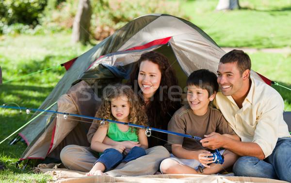 Joyful family fishing Stock photo © wavebreak_media