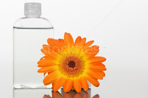 Stok fotoğraf: Cam · turuncu · ayna · beyaz