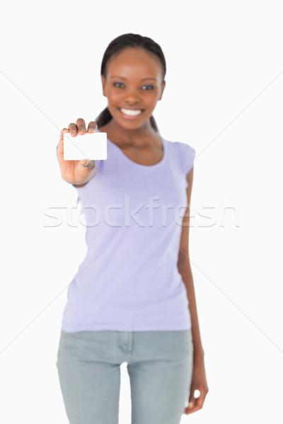 Cartão de visita sorrindo branco cartão apresentação conselho Foto stock © wavebreak_media