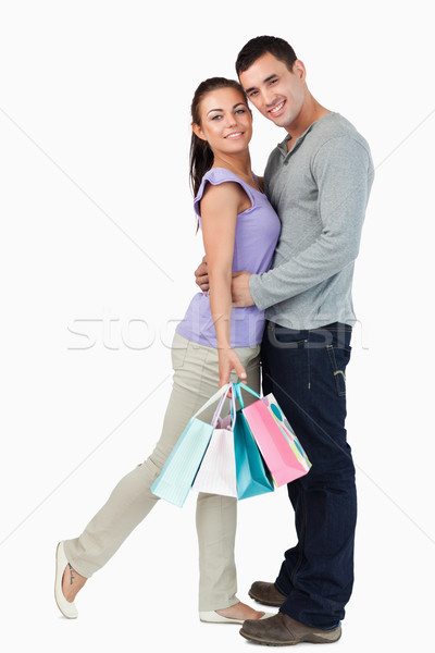 Jeunes Homme petite amie Shopping tournée Photo stock © wavebreak_media