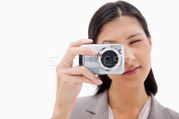 女性実業家 カメラ 白 技術 背景 デジタル ストックフォト © wavebreak_media