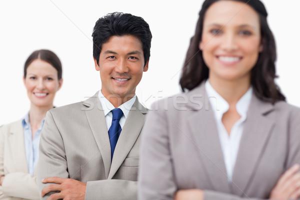 Sorridere giovani piegato braccia bianco business Foto d'archivio © wavebreak_media