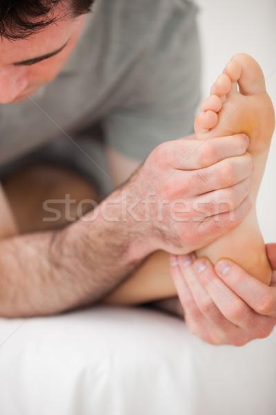 серьезный совместный человека медицинской Сток-фото © wavebreak_media