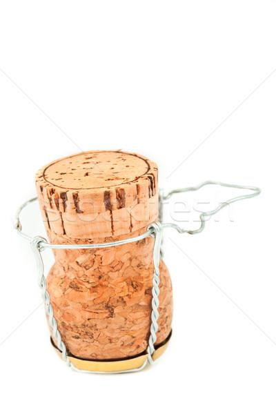 Kork verkehrt herum weiß Metall Champagner Flasche Stock foto © wavebreak_media