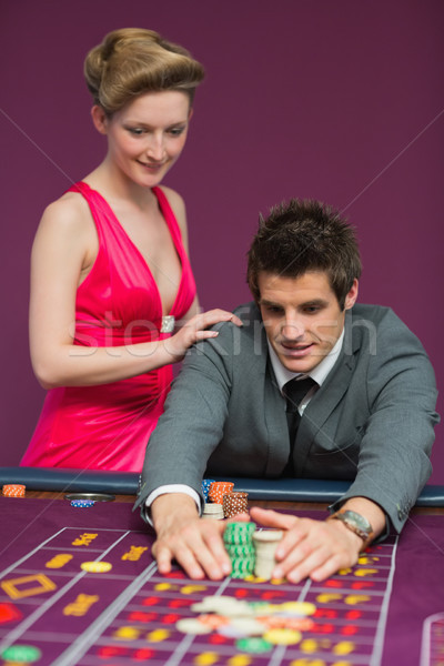Photo stock: Homme · roulette · table · casino · Homme