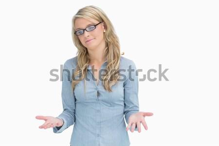 Mujer gafas mirando confundirse retrato Foto stock © wavebreak_media