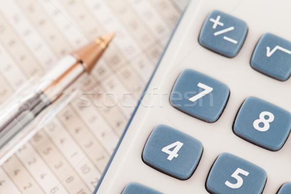 Calculadora matemática caneta números close-up Foto stock © wavebreak_media