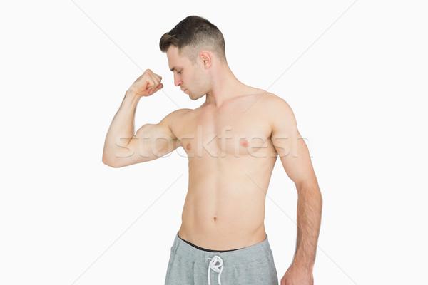 Torse nu jeune homme muscles blanche main sport Photo stock © wavebreak_media