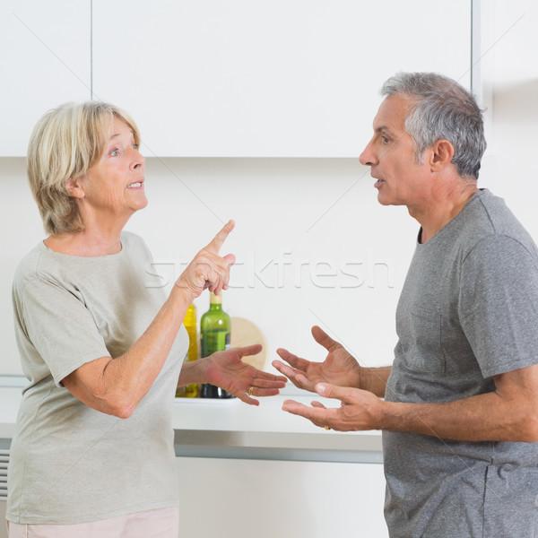 Feleség veszekedik férj konyha férfi otthon Stock fotó © wavebreak_media