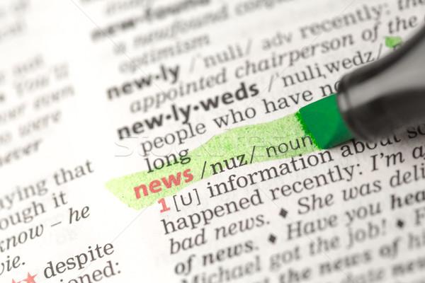 News definizione verde dizionario informazioni studiare Foto d'archivio © wavebreak_media