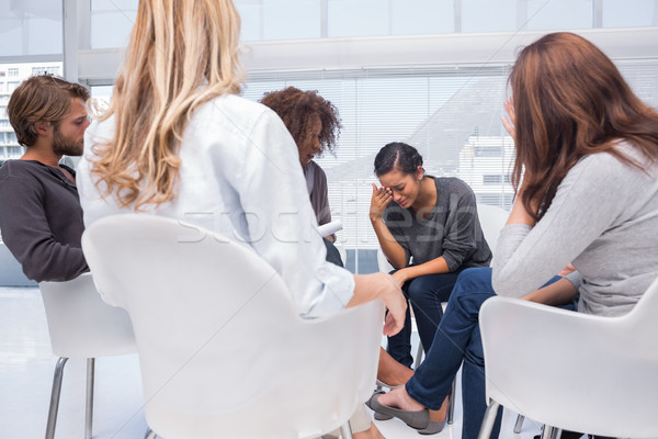 Woman crying at group therapy Stock photo © wavebreak_media