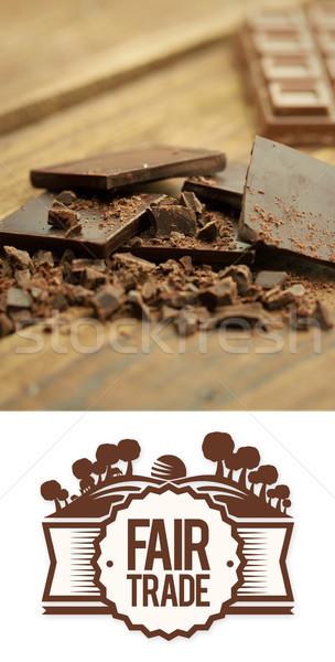 összetett kép vásár kereskedelem grafikus csokoládé Stock fotó © wavebreak_media