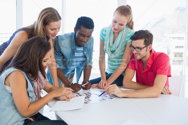 Group of casual artists working on designs Stock photo © wavebreak_media