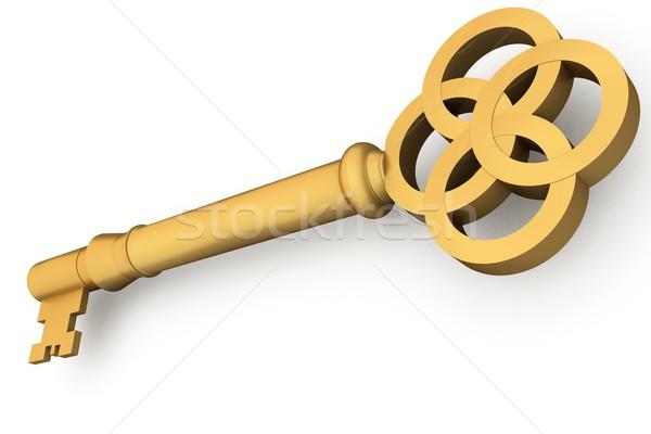 генерируется золото ключевые белый Сток-фото © wavebreak_media