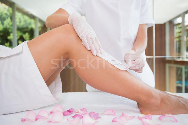 Сток-фото: женщину · ног · красоту · терапевт · закрывается