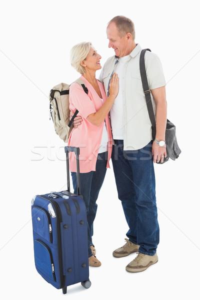 Stockfoto: Glimlachend · ouder · paar · vakantie · witte · reizen