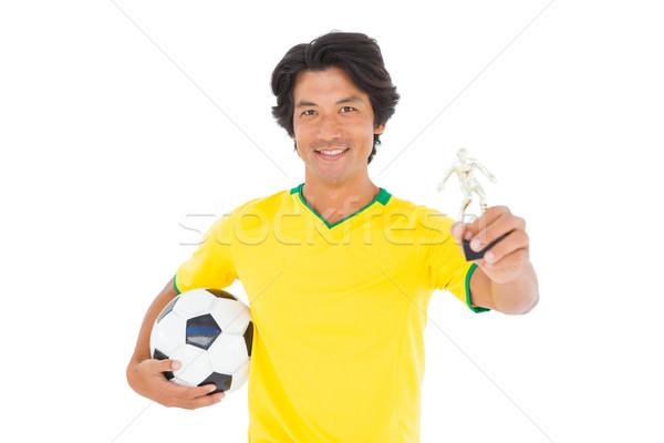 футболист желтый трофей белый Сток-фото © wavebreak_media