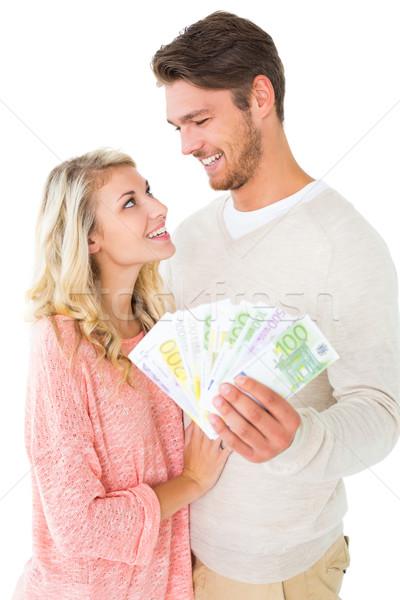 çekici çift nakit beyaz para Stok fotoğraf © wavebreak_media