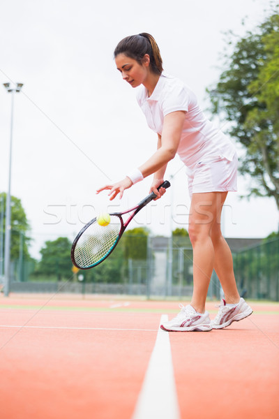 Tennis player playing a match on the court Stock photo © wavebreak_media
