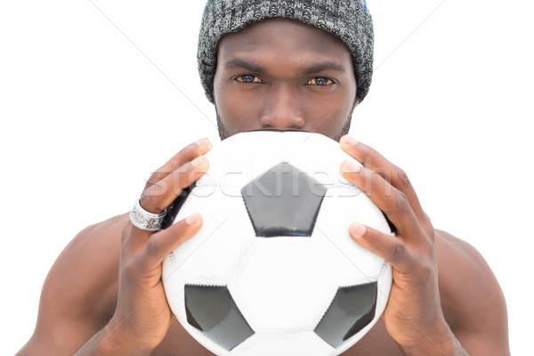 Portre ciddi futbol fan beyaz Stok fotoğraf © wavebreak_media