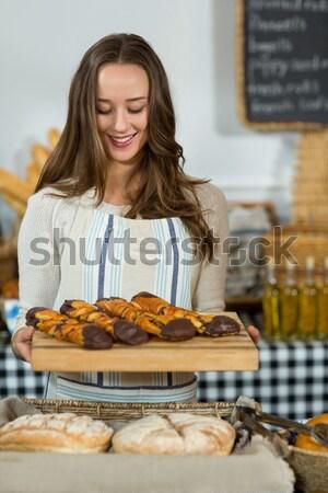 Stock fotó: Boldog · barna · hajú · tart · Törökország · otthon · konyha