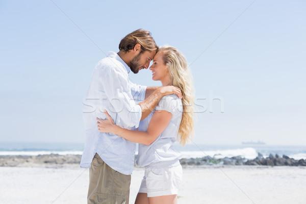 Cute пару пляж счастливым Сток-фото © wavebreak_media