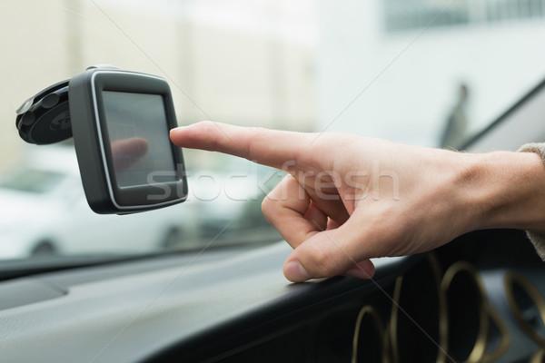 человека спутниковой навигация автомобилей жизни вождения Сток-фото © wavebreak_media