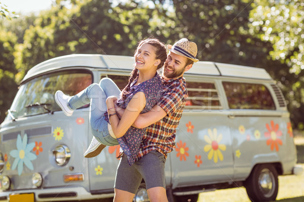 Hipster couple having fun together Stock photo © wavebreak_media