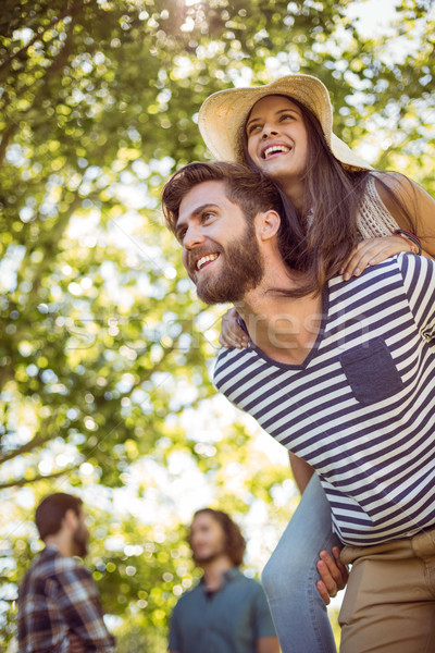 пару вместе человека счастливым Сток-фото © wavebreak_media