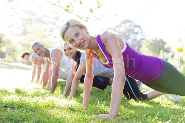 幸せ アスレチック グループ 訓練 男 ストックフォト © wavebreak_media