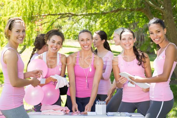 Sorridere donne evento consapevolezza Foto d'archivio © wavebreak_media