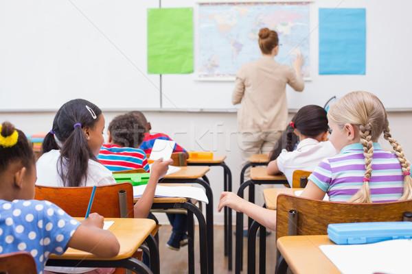Méchant classe école élémentaire femme fille école Photo stock © wavebreak_media