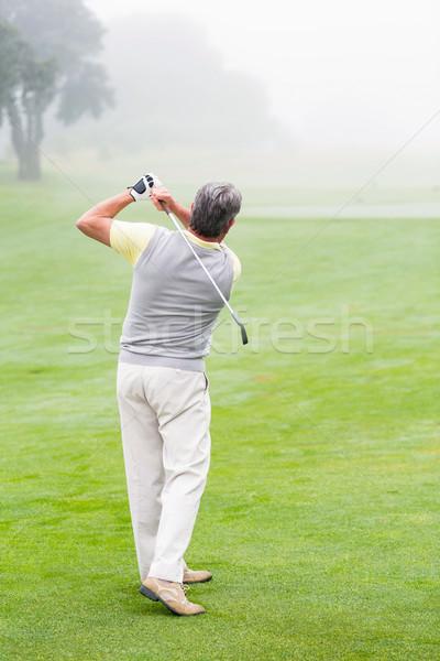 Golfçü kulüp gün golf sahası spor Stok fotoğraf © wavebreak_media