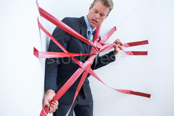 Om de afaceri prins birocratie alb afaceri om Imagine de stoc © wavebreak_media