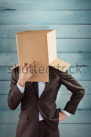Anonim üzletember megérint áll szürke férfi Stock fotó © wavebreak_media