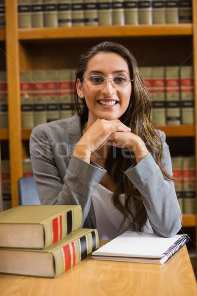 Bella avvocato legge biblioteca Università libro Foto d'archivio © wavebreak_media