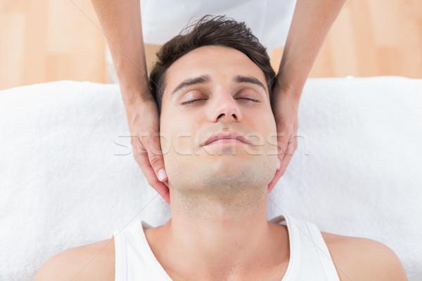 Człowiek szyi masażu medycznych biuro kobieta Zdjęcia stock © wavebreak_media