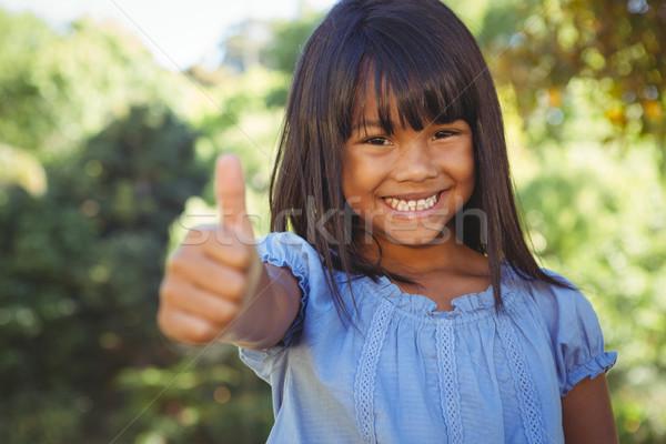 Cute little girl in the park Stock photo © wavebreak_media