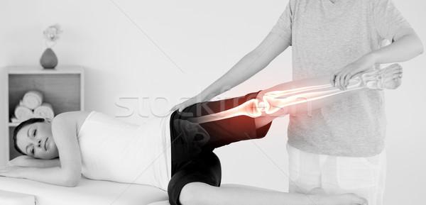 Knochen Frau digital composite Mann Arzt medizinischen Stock foto © wavebreak_media