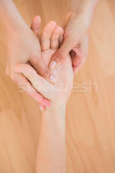 Kéz masszázs orvosi iroda nő egészség Stock fotó © wavebreak_media