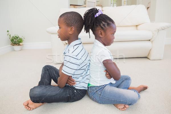 Siblings not talking to each other Stock photo © wavebreak_media