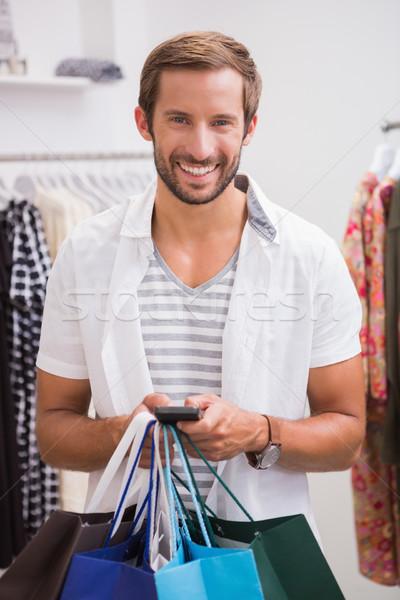 Retrato sonriendo hombre boutique Foto stock © wavebreak_media