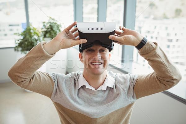 портрет счастливым исполнительного виртуальный реальность гарнитура Сток-фото © wavebreak_media
