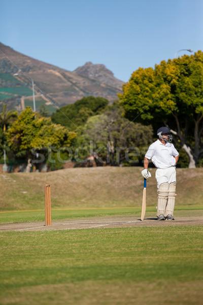 Full length of batsman standing on field during match Stock photo © wavebreak_media