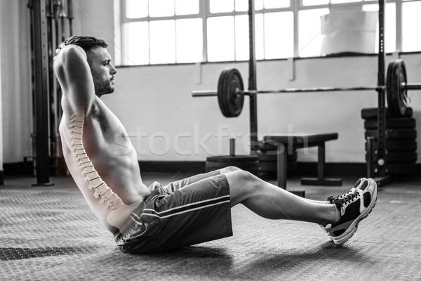 Wervelkolom man gymnasium digitale composiet fitness Stockfoto © wavebreak_media