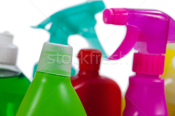 различный моющее средство бутылок белый фитнес Сток-фото © wavebreak_media