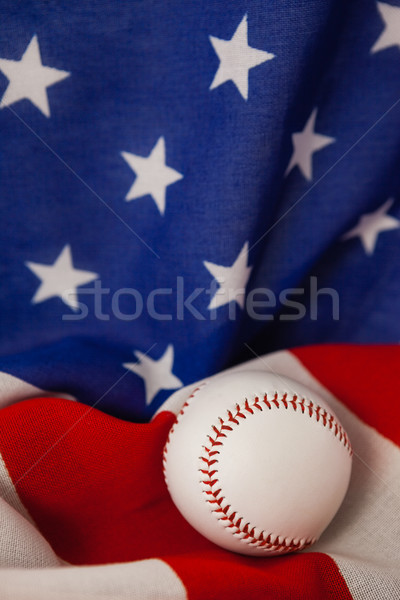 Baseball piłka amerykańską flagę sportu niebieski Zdjęcia stock © wavebreak_media