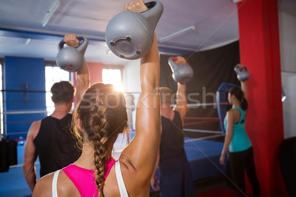 Achteraanzicht jonge boksen ring Stockfoto © wavebreak_media
