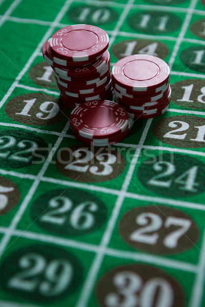 Chips roulette tabel kaarten spelen Stockfoto © wavebreak_media