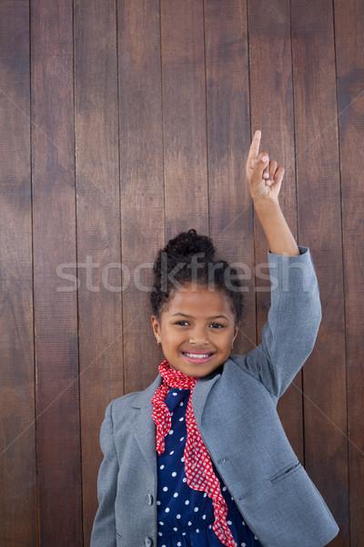 Portrait souriant fille femme d'affaires permanent Photo stock © wavebreak_media
